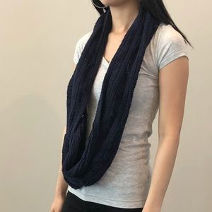 Hollister Accessories - Navy Blue Circle Scarf